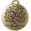 Charm Tree Of Life 22mm Antique Gold